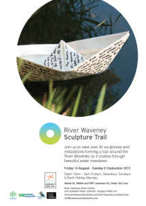 River Waveney Sculpoture Trail Poster